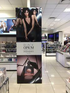 Grapevine media in store advertising Lightbox design YSL Opium Black