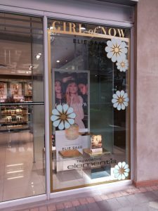 Grapevine media in store advertising Ellie Saab Girl of now Melrose Arch