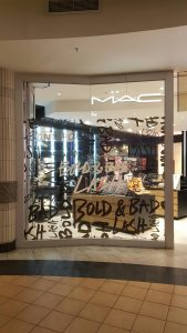 Grapevine media in store advertising MAC Bold _ bad lash window and lightbox - Midlands Mall (2)