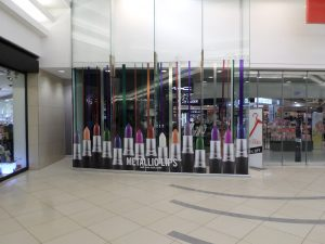 Grapevine media in store advertising MAC Colour Rocker windows - Canal Walk (2)