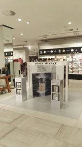 Grapevine media in store advertising Edgars window