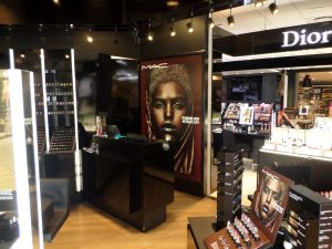 Grapevine media in store advertising MAC Shade Scents